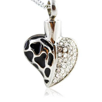 Elegant Heart Cremation Jewelry