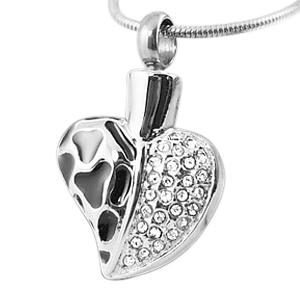Elegant Heart Cremation Jewelry
