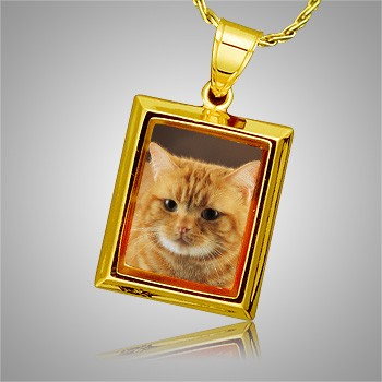 Cat Square Picture Cremation Pendant II