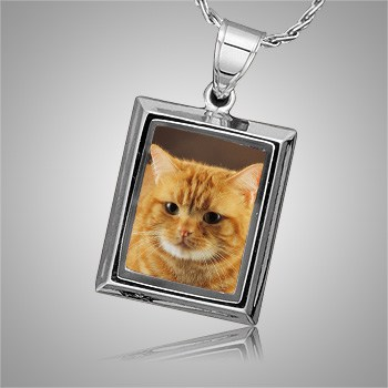 Cat Square Picture Cremation Pendant