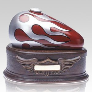 Red Motorcycle Cremation Urns
