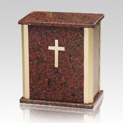Bethany Holly Cross Cremation Urn