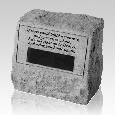 If Tears Could Cremation Gravestone
