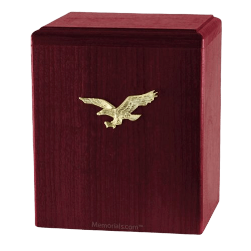 Eagle Ascent Rosewood Small Cremation Urn
