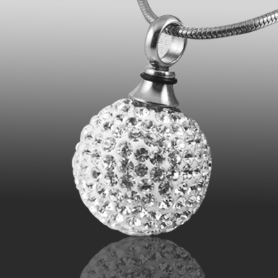 Crystal ball cremation jewelry mozeypictures Choice Image
