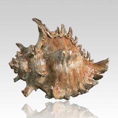 Seashell Bronze Cremation Urn