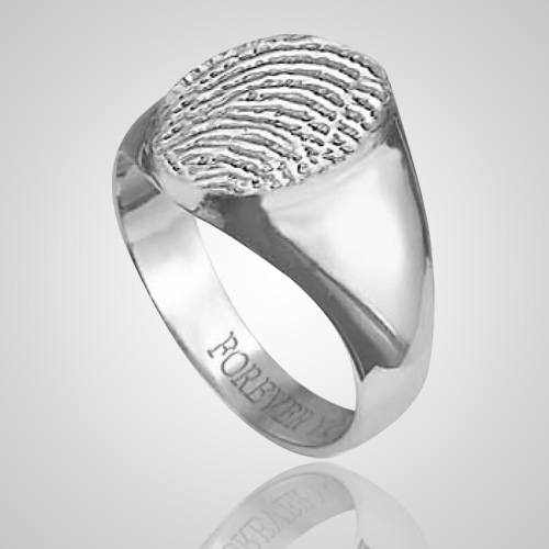 Signet Ring Print 14k White Gold Keepsakes