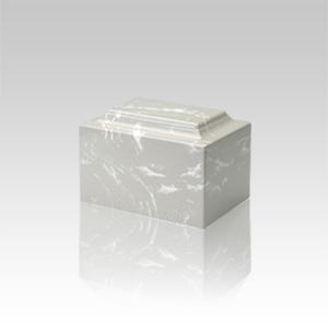 Silver Gray Marble Keepsake Urn