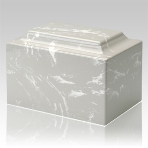 Silver Gray Marble Individual Urn