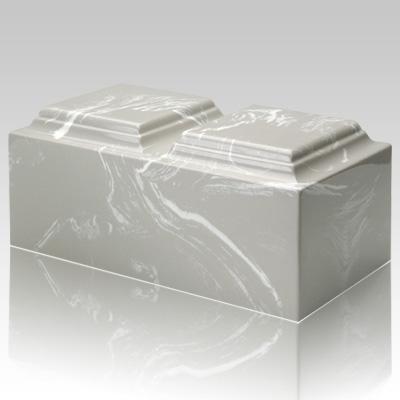 Silver Gray Marble Companion Urn