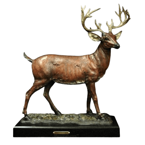 Deer Bronze Cremation Urn
