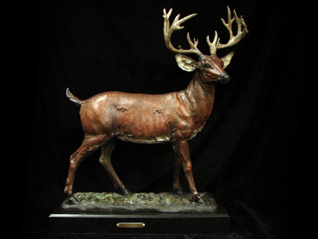 Deer Bronze Cremation Urn