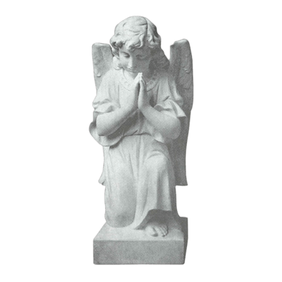 Kneeling Angel Granite Statue II