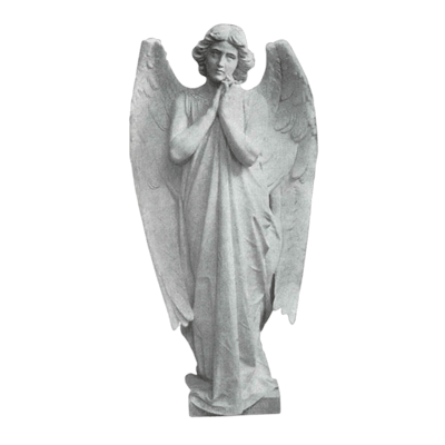 Adoring Angel Granite Statue II
