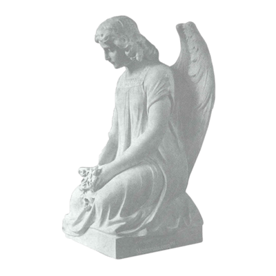 Angel Devotion Granite Statue IV
