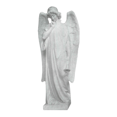 Trumpet Angel Granite Statue V