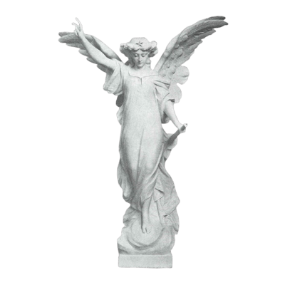 Enlightened Angel Granite Statue IV