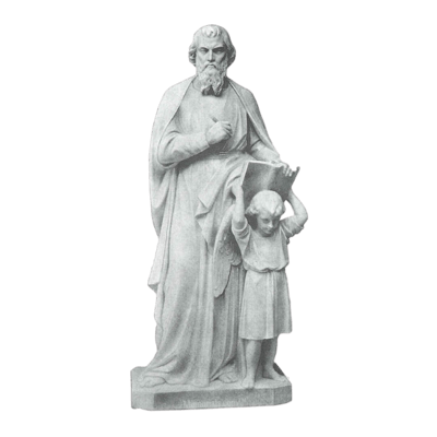St. Matthew And Girl Granite Statue V