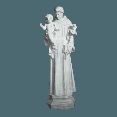 Saint Anthony And Baby Granite Statue