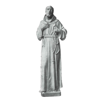 Saint Of Animals Granite Statue