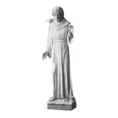 St. Francis Of Assisi Granite Statue