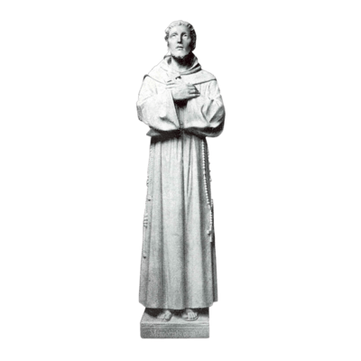 Seeking Saint Granite Statue