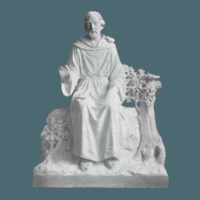 Oak Tree Prayer Granite Statue
