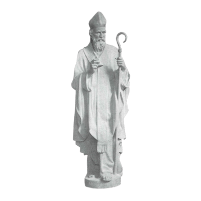 St. Nicholas Of Bari Granite Statue V