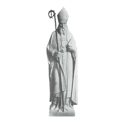 St. Patrick Croizer Granite Statue III