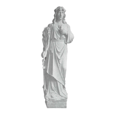 St. Philomena Granite Statue