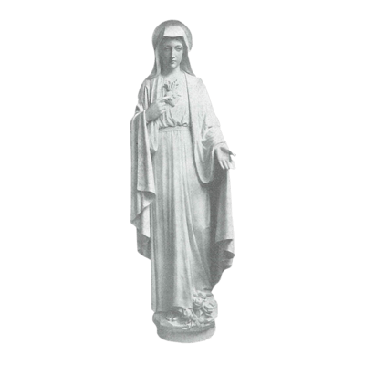Sacred Heart Of Mary Granite Statue