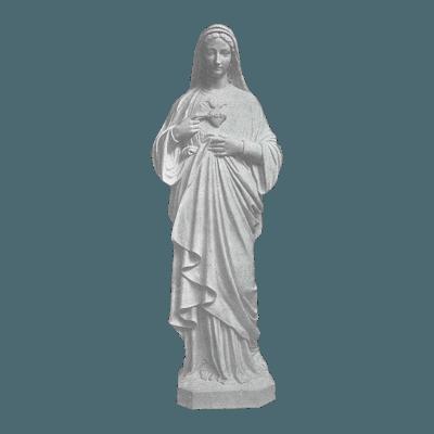 Heart Of Mary Granite Statue