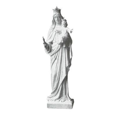 Mary And Jesus Marble Statue II