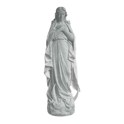 Immaculate Prayer Marble Statue