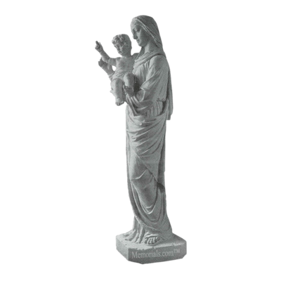 Our Lady And Child Marble Statue