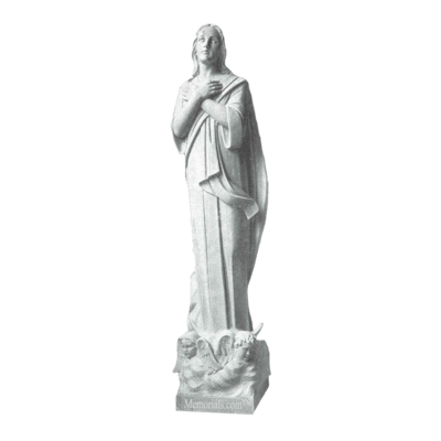 Faithful Children Granite Statue