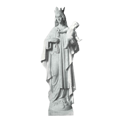 Our Lady Of Mt. Camel Granite Statue