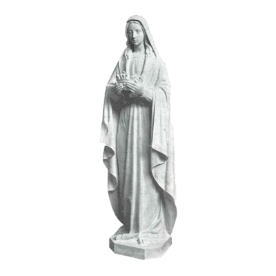 Our Lady Of Crowning Marble Statue