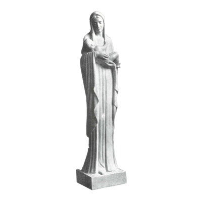 Mary And Infant Granite Statue