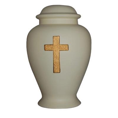 Cross Ivory Cremation Urn