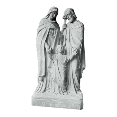 Sacred Family Marble Statue