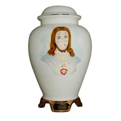 Jesus Ceramic Cremation Urn