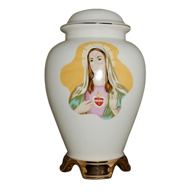 Mary Ceramic Cremation Urn