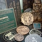 Biker Bronze Plaque