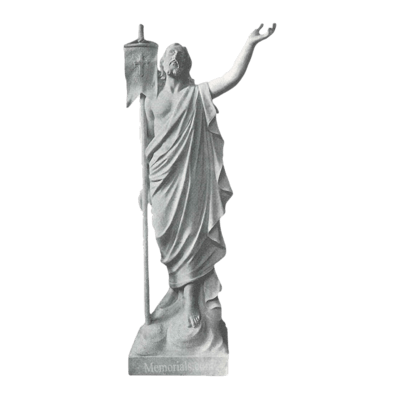 Risen Christ Granite Statue