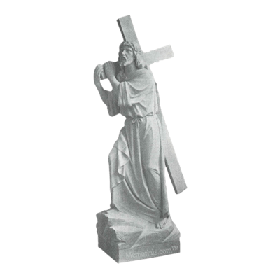 On The Way To Calvary Marble Statue
