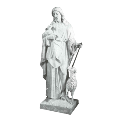 Shepherd And Sheep Marble Statue
