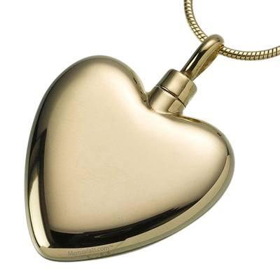 Large Heart Cremation Pendant IV