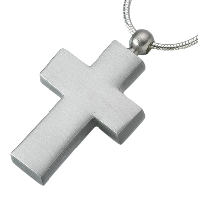 Pewter Cross Cremation Jewelry