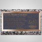Deep Blue Sea Bronze Plaque